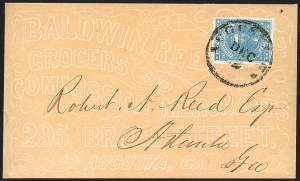 Sale Number 1208, Lot Number 223, Overall Advertising Covers10c Blue, Paterson (2), 10c Blue, Paterson (2)