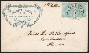 Sale Number 1208, Lot Number 245, Corner Card Covers5c Light Blue, De La Rue (6), 5c Light Blue, De La Rue (6)