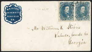 Sale Number 1208, Lot Number 253, College Covers (By State)5c Blue, Stone 2 (4), 5c Blue, Stone 2 (4)