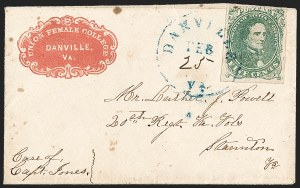Sale Number 1208, Lot Number 256, College Covers (By State)5c Green, Stone 1 (1), 5c Green, Stone 1 (1)