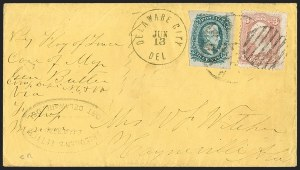 Sale Number 1208, Lot Number 300, Confederate Prisoners' Mail from Union PrisonsFort Delaware, Delaware City, Fort Delaware, Delaware City