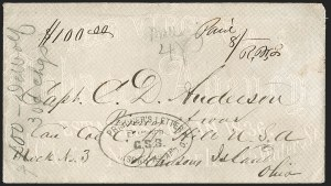 Sale Number 1208, Lot Number 302, Confederate Prisoners' Mail from Union PrisonsJohnson's Island, Sandusky O, Johnson's Island, Sandusky O
