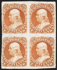 Sale Number 1209, Lot Number 1010, Essays, Proofs and Specimens: 1845 thru 1869 Issues30c Deep Red Orange, First Design, Plate Essay on India (71-E2b; formerly 61P3), 30c Deep Red Orange, First Design, Plate Essay on India (71-E2b; formerly 61P3)