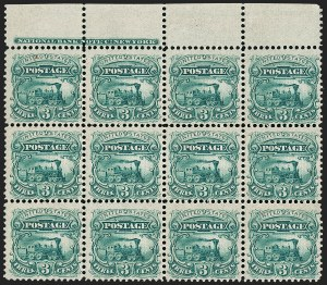 Sale Number 1209, Lot Number 1024, Essays, Proofs and Specimens: 1845 thru 1869 Issues3c Green, Small Numeral, Plate Essay on Stamp Paper, Perforated 12, Grilled (114-E6d), 3c Green, Small Numeral, Plate Essay on Stamp Paper, Perforated 12, Grilled (114-E6d)