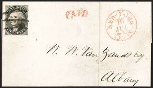 Sale Number 1209, Lot Number 1078, Postmasters' ProvisionalsNew York N.Y., 5c Black, Without Signature (9X1e), New York N.Y., 5c Black, Without Signature (9X1e)