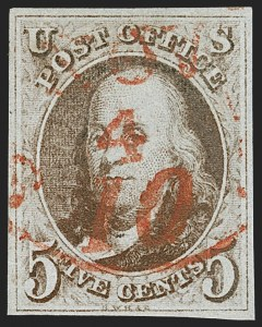 Sale Number 1209, Lot Number 1086, 1847 Issue and 1875 Reproduction (Scott 1-4)5c Red Brown (1), 5c Red Brown (1)