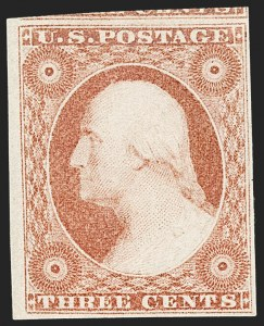 Sale Number 1209, Lot Number 1098, 1851-56 Issue (Scott 5-17)3c Dull Red, Ty. II (11A). Mint N.H, 3c Dull Red, Ty. II (11A). Mint N.H