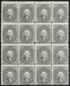 Sale Number 1209, Lot Number 1122, 1861-66 Issue (Scott 56-78)24c Gray (78b), 24c Gray (78b)