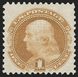 Sale Number 1209, Lot Number 1130, 1869 Pictorial Issue (Scott 112-122)1c Buff (112). Mint N.H, 1c Buff (112). Mint N.H