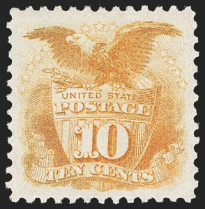 Sale Number 1209, Lot Number 1150, 1875 Re-Issue of 1869 Pictorial Issue (Scott 123-133a)10c Yellow, Re-Issue (127), 10c Yellow, Re-Issue (127)