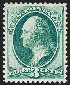 Sale Number 1209, Lot Number 1156, 1870-88 Bank Note Issues (Scott 134-218)3c Green (147), 3c Green (147)