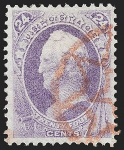 Sale Number 1209, Lot Number 1157, 1870-88 Bank Note Issues (Scott 134-218)24c Purple (153), 24c Purple (153)