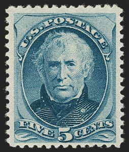 Sale Number 1209, Lot Number 1164, 1870-88 Bank Note Issues (Scott 134-218)5c Blue (185), 5c Blue (185)