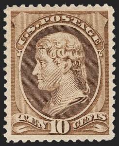 Sale Number 1209, Lot Number 1167, 1870-88 Bank Note Issues (Scott 134-218)10c Brown (209), 10c Brown (209)
