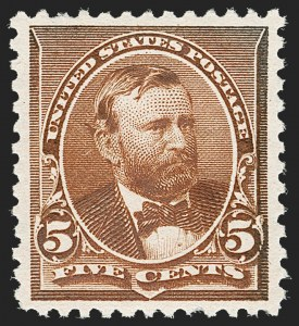 Sale Number 1209, Lot Number 1178, 1890-93 Issue (Scott 219-229)5c Chocolate (223), 5c Chocolate (223)