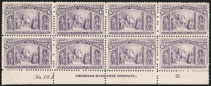 Sale Number 1209, Lot Number 1186, 1893 Columbian Issue (Scott 230-245)6c Columbian (235), 6c Columbian (235)