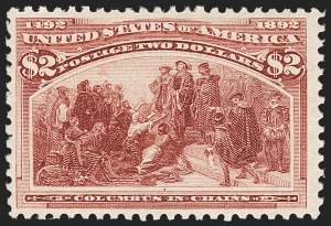 Sale Number 1209, Lot Number 1188, 1893 Columbian Issue (Scott 230-245)$2.00 Columbian (242), $2.00 Columbian (242)