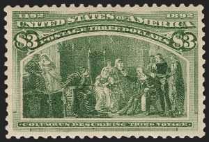 Sale Number 1209, Lot Number 1189, 1893 Columbian Issue (Scott 230-245)$3.00 Columbian (243), $3.00 Columbian (243)