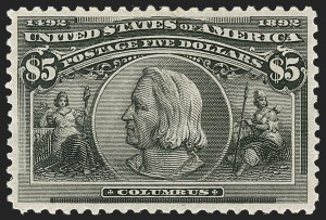 Sale Number 1209, Lot Number 1194, 1893 Columbian Issue (Scott 230-245)$5.00 Columbian (245), $5.00 Columbian (245)