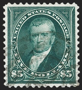 Sale Number 1209, Lot Number 1209, 1894-95 Bureau Issues (Scott 246-278)$5.00 Dark Green (278), $5.00 Dark Green (278)