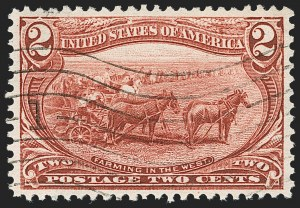 Sale Number 1209, Lot Number 1211, 1898 Trans-Mississippi Issue (Scott 285-293)2c Trans-Mississippi (286), 2c Trans-Mississippi (286)