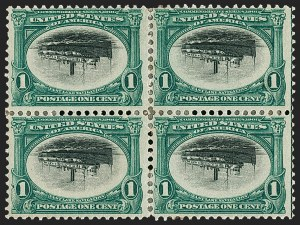 Sale Number 1209, Lot Number 1219, 1901 Pan-American Issue including Inverts (Scott 294-299)1c Pan-American, Center Inverted (294a), 1c Pan-American, Center Inverted (294a)