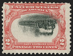 Sale Number 1209, Lot Number 1220, 1901 Pan-American Issue including Inverts (Scott 294-299)2c Pan-American, Center Inverted (295a), 2c Pan-American, Center Inverted (295a)