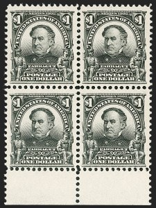Sale Number 1209, Lot Number 1225, 1902-08 Issues (Scott 300-320)$1.00 Black (311), $1.00 Black (311)