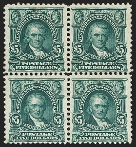 Sale Number 1209, Lot Number 1229, 1902-08 Issues (Scott 300-320)$5.00 Dark Green (313), $5.00 Dark Green (313)