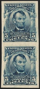 Sale Number 1209, Lot Number 1231, 1902-08 Issues (Scott 300-320)5c Blue, Imperforate (315), 5c Blue, Imperforate (315)