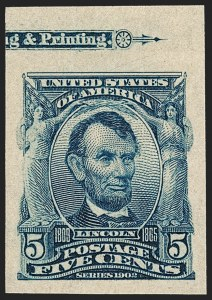 Sale Number 1209, Lot Number 1232, 1902-08 Issues (Scott 300-320)5c Blue, Imperforate (315), 5c Blue, Imperforate (315)