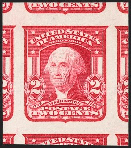 Sale Number 1209, Lot Number 1233, 1902-08 Issues (Scott 300-320)2c Carmine, Ty. I, Imperforate (320), 2c Carmine, Ty. I, Imperforate (320)