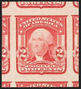 Sale Number 1209, Lot Number 1234, 1902-08 Issues (Scott 300-320)2c Scarlet, Ty. I, Imperforate (320b), 2c Scarlet, Ty. I, Imperforate (320b)