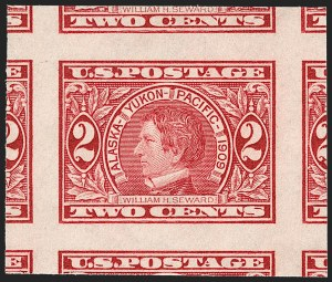 Sale Number 1209, Lot Number 1251, 1908-13 Washington-Franklin Issues (Scott 331-396)2c Alaska-Yukon, Imperforate (371), 2c Alaska-Yukon, Imperforate (371)