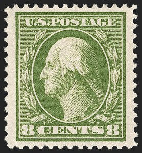 Sale Number 1209, Lot Number 1253, 1908-13 Washington-Franklin Issues (Scott 331-396)8c Olive Green (380), 8c Olive Green (380)