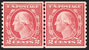 Sale Number 1209, Lot Number 1269, 1912-20 Washington-Franklin Issues (Scott 405-550)2c Carmine, Ty. III, Coil (455), 2c Carmine, Ty. III, Coil (455)