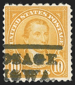 Sale Number 1209, Lot Number 1298, 1922-29 and Later Issues10c Orange, Perf 10 at Top (562c), 10c Orange, Perf 10 at Top (562c)