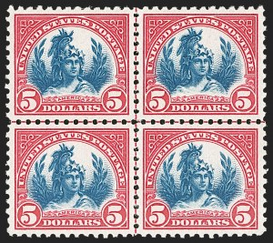 Sale Number 1209, Lot Number 1299, 1922-29 and Later Issues$5.00 Carmine & Blue (573), $5.00 Carmine & Blue (573)