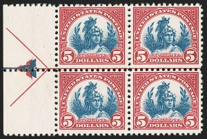 Sale Number 1209, Lot Number 1300, 1922-29 and Later Issues$5.00 Carmine & Blue (573), $5.00 Carmine & Blue (573)