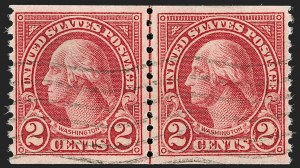 Sale Number 1209, Lot Number 1305, 1922-29 and Later Issues2c Carmine, Ty. II, Coil (599A), 2c Carmine, Ty. II, Coil (599A)