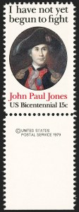 Sale Number 1209, Lot Number 1312, Modern Errors15c John Paul Jones, Perf 12 (1789B), 15c John Paul Jones, Perf 12 (1789B)