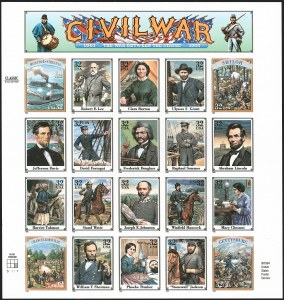 Sale Number 1209, Lot Number 1319, Modern Errors32c Civil War Se-Tenant Pane of 20, Imperforate (2975w), 32c Civil War Se-Tenant Pane of 20, Imperforate (2975w)