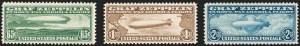 Sale Number 1209, Lot Number 1333, Air Post65c-$2.60 Graf Zeppelin (C13-C15), 65c-$2.60 Graf Zeppelin (C13-C15)