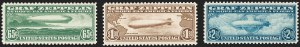 Sale Number 1209, Lot Number 1334, Air Post65c-$2.60 Graf Zeppelin (C13-C15), 65c-$2.60 Graf Zeppelin (C13-C15)