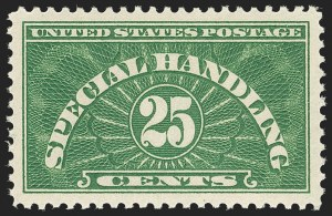 Sale Number 1209, Lot Number 1393, Newspapers and Periodicals thru Parcel Post25c Special Handling (QE4), 25c Special Handling (QE4)