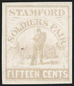 Sale Number 1209, Lot Number 1395, Sanitary FairsSoldiers' Fair, Stamford Conn., 15c Pale Brown (WV15), Soldiers' Fair, Stamford Conn., 15c Pale Brown (WV15)