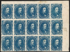 Sale Number 1209, Lot Number 1403, Confederate States5c Blue, Stone 2 (4), 5c Blue, Stone 2 (4)