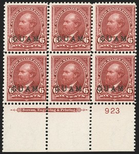 Sale Number 1209, Lot Number 1414, U.S. PossessionsGUAM, 1899, 5c Lake (6), GUAM, 1899, 5c Lake (6)
