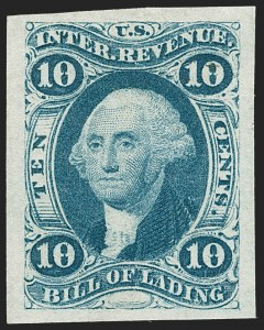 Sale Number 1209, Lot Number 1464, Revenues: First Issue Imperforate (R1a-R76a)10c Bill of Lading, Imperforate (R32a), 10c Bill of Lading, Imperforate (R32a)