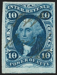 Sale Number 1209, Lot Number 1469, Revenues: First Issue Imperforate (R1a-R76a)10c Power of Attorney, Imperforate (R37a), 10c Power of Attorney, Imperforate (R37a)
